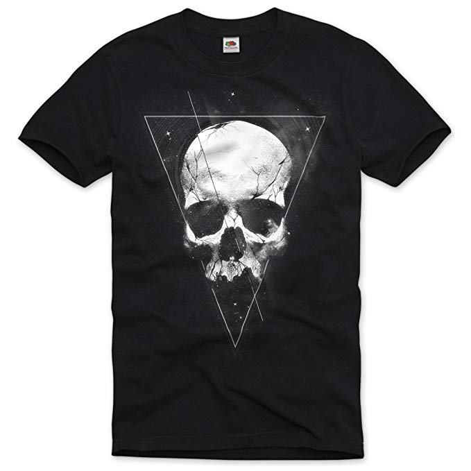 Tattoo Skull Men's T-Shirt Totenkopf Bike Motorrad USA Metal Death