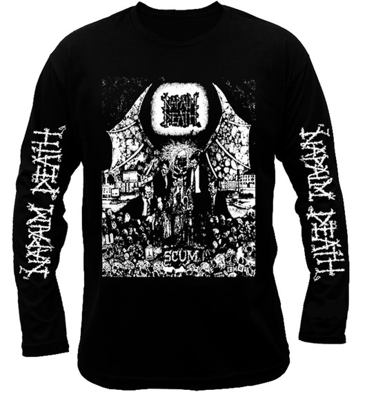 Napalm Death Scum Long Sleeve T-Shirt. Death metal t-shirt
