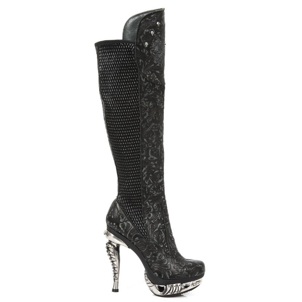 9acef5526c5 Уникални дамски ботуши с метален ток | Онлайн метъл магазин ...
